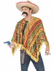 Wild West Poncho and Moustache